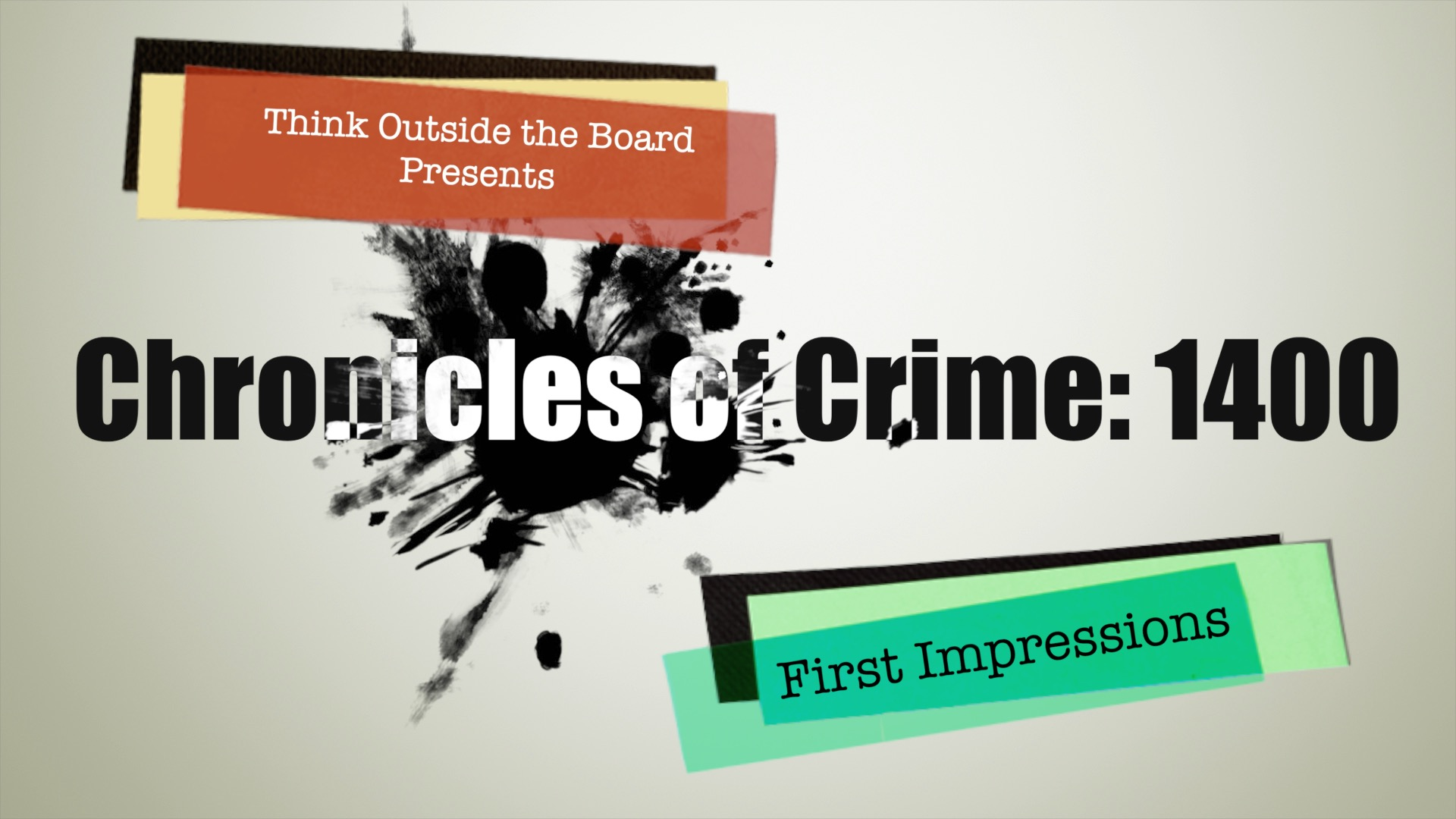 Chronicles of Crime: 1400 First Impressions